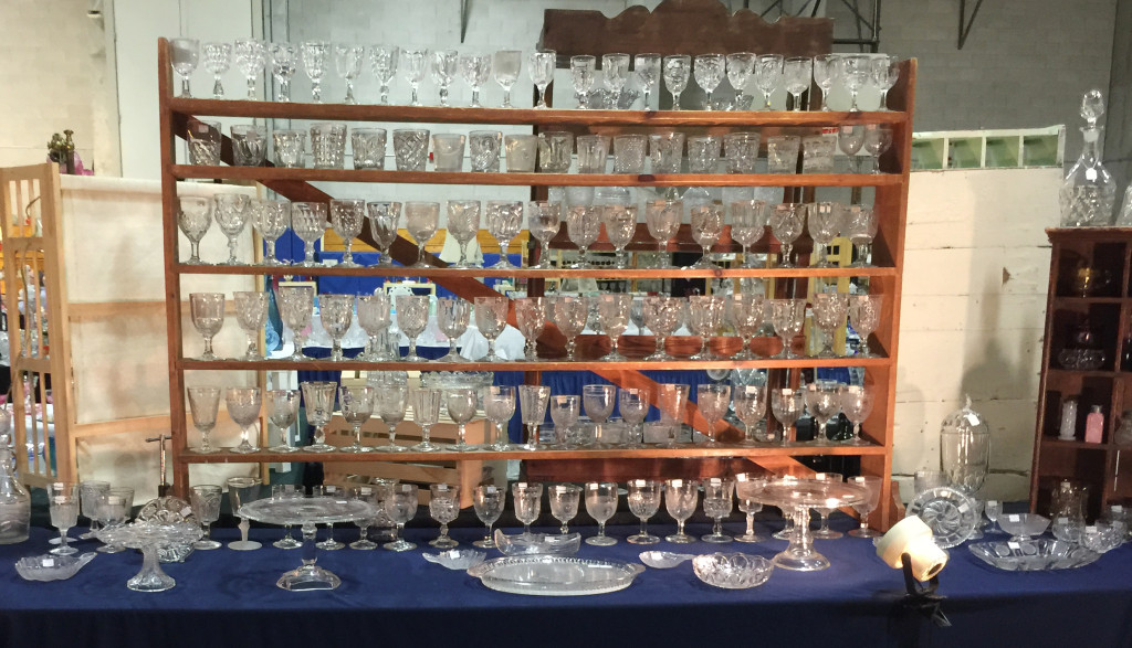 Betsy Hewlett Lessig, Yarmouth Port, Mass., exhibited an assortment of American pattern glass.