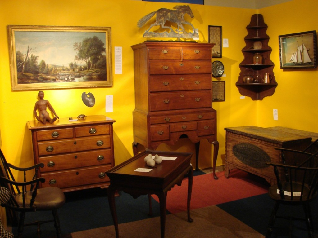 Heller & Washam, Portland, Maine, had a selection of Eighteenth and Nineteenth Century furniture and accessories.