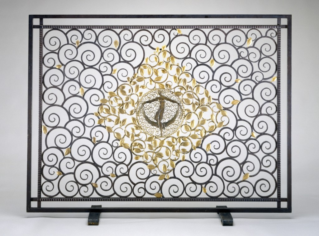 Fire screen by Edgar Brandt (1880–1960), circa 1925. Wrought iron and gilding. Museum of Fine Arts, Houston. ©2017 Artists Rights Society (ARS), New York / ADAGP, Paris