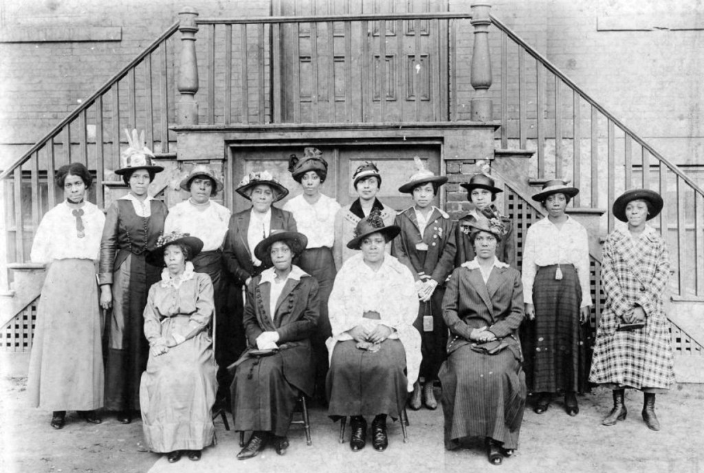 Because women's suffrage organizations generally did not welcome black women as members, they formed their own groups. Begun in 1899, this club was an affiliate of the National Association of Colored Women. It was named for the first African American poet to be published. Phyllis Wheatley Club, Buffalo, N.Y. Library of Congress.