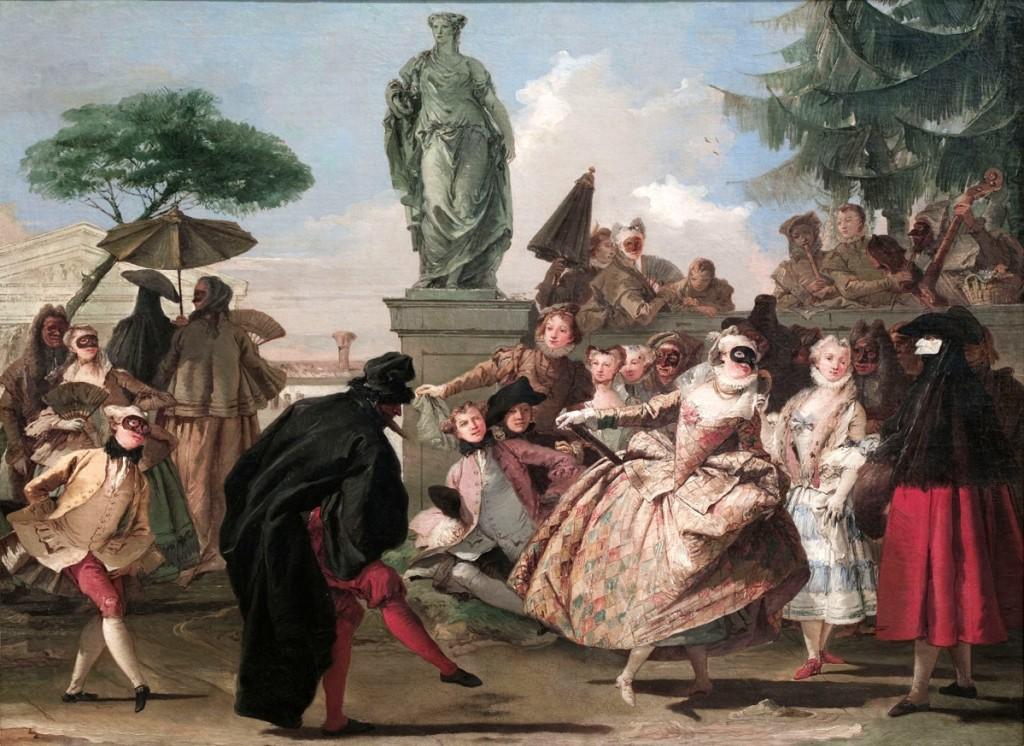 """The Charlatan"" by Giandomenico Tiepolo (1727–1804), 1756. Oil on canvas, 31¾ by 42-  inches. Museu Nacional d'Art de Catalunya"