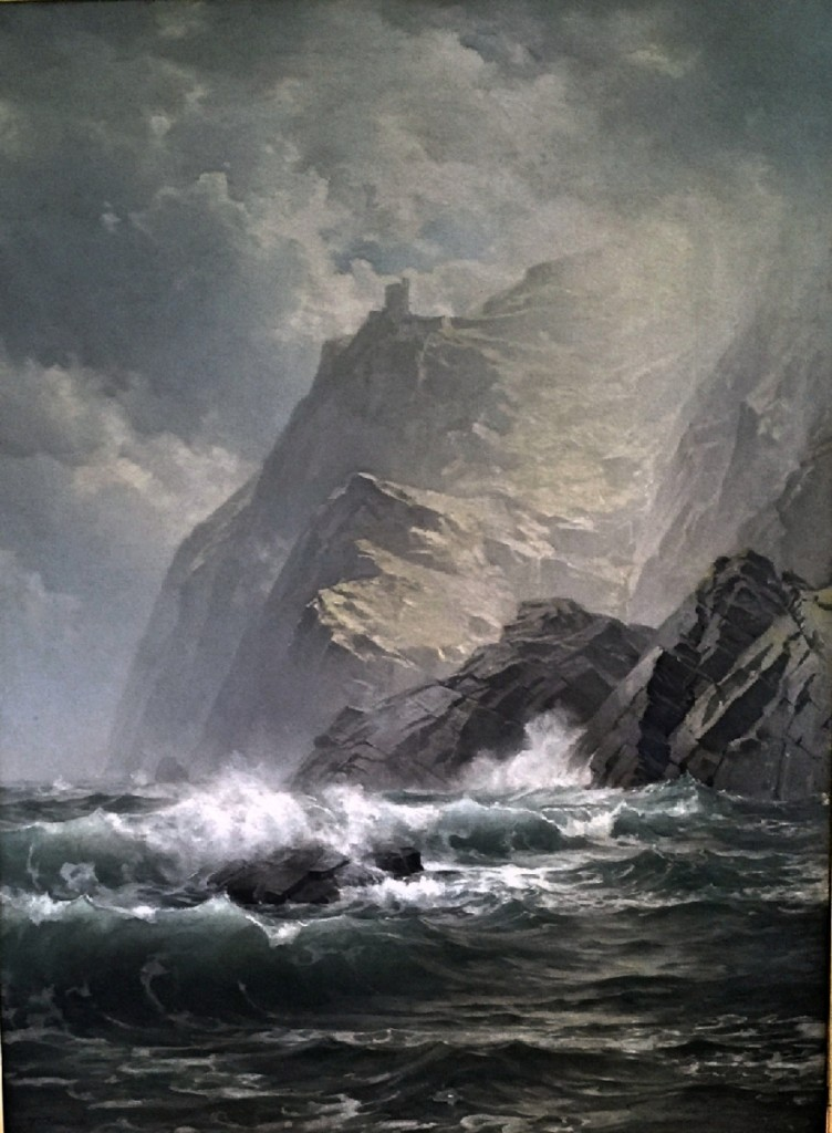 Top lot of the sale was this huge oil on canvas by William Trost Richards, measuring 48 by 36 inches, which was a striking depiction of Donegal, the West Coast of Ireland, and achieved $132,000.