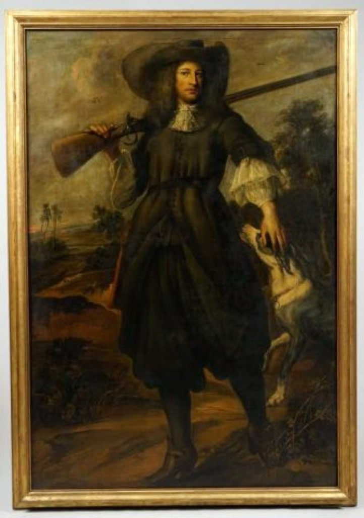 "This painting by Bartolome Esteban Murillo, titled ""Hunter,"" sold for $20,400. It had been sold at an 1821 auction of paintings in Boston, and an original copy of that auction catalog accompanied the painting, as did its tag from that sale."