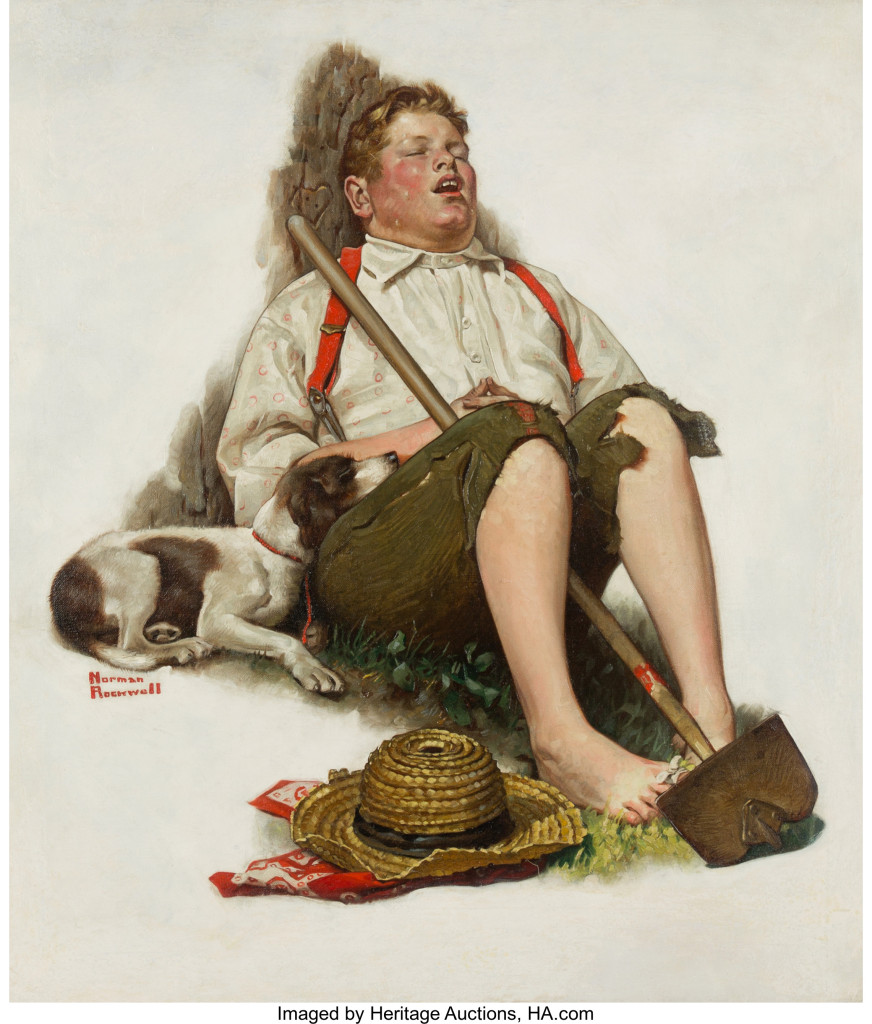 Norman Rockwell (American, 1894-1978) Lazybones, The Saturday Evening Po...