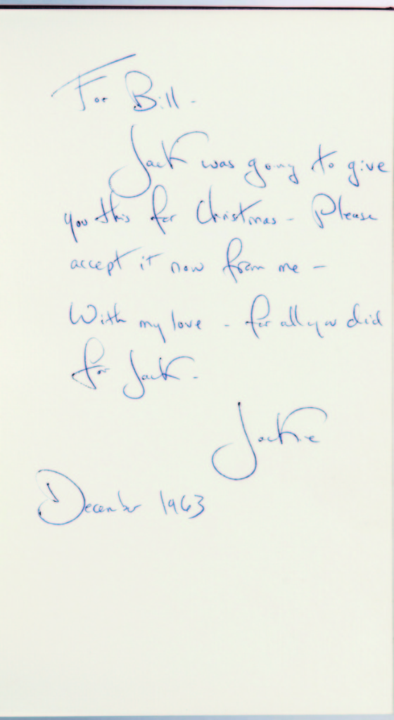 A particularly touching John F. Kennedy item was included along with other JFK items. JFK and Jackie prepared an edition of Inaugural Addresses of the Presidents of the United States from George Washington to John F. Kennedy. The book realized $11,070.            —Skinner's Book Sale