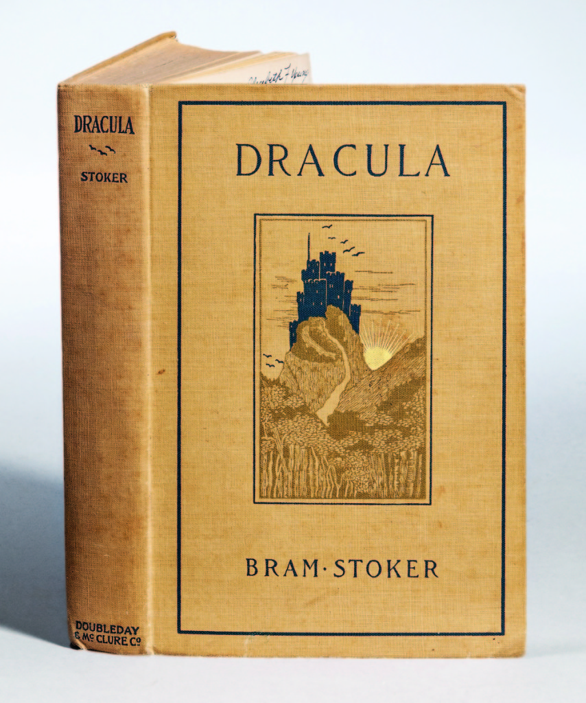 An inscribed first American edition of Bram Stoker's Dracula sold for more than twice the estimate, realizing $19,680. It was inscribed to Ethel Fiske, the daughter of Harvard philosopher and historian John Fiske, who met Stoker at her home. Included was a three-page letter from Ethel Fiske. —Skinner's Book Sale
