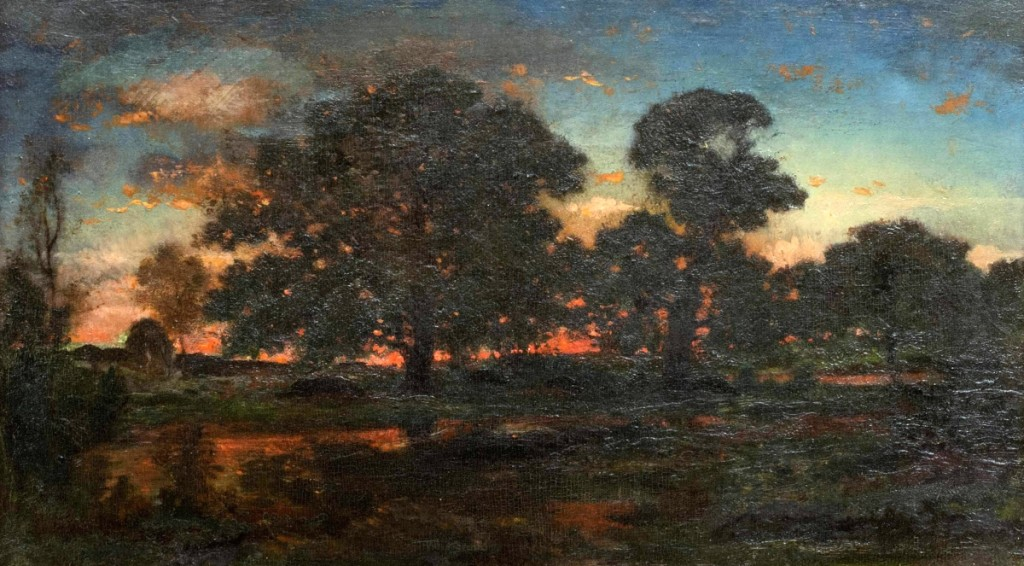A Theodore Rousseau (French, 1812–1867) landscape brought $42,000.