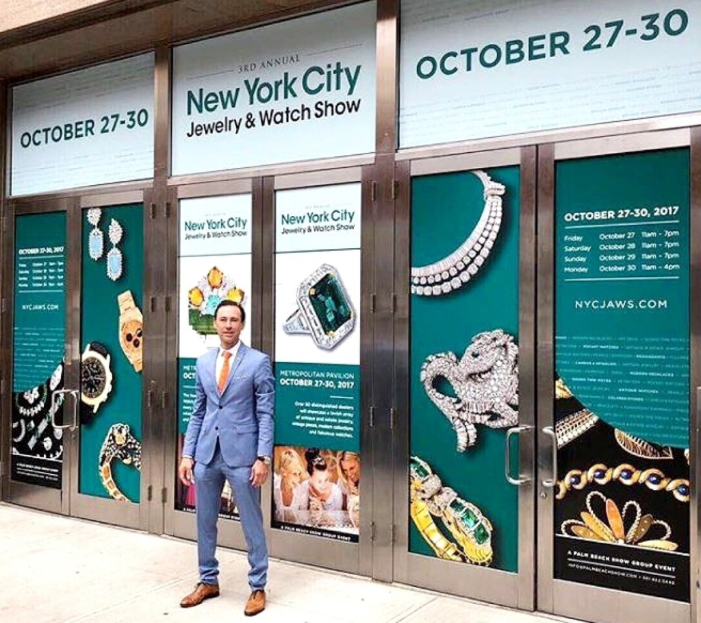 Palm Beach Show Group president and chief executive officer Scott Diament at Metropolitan Pavilion for the start of the New York City Jewelry & Watch Show on October 27.