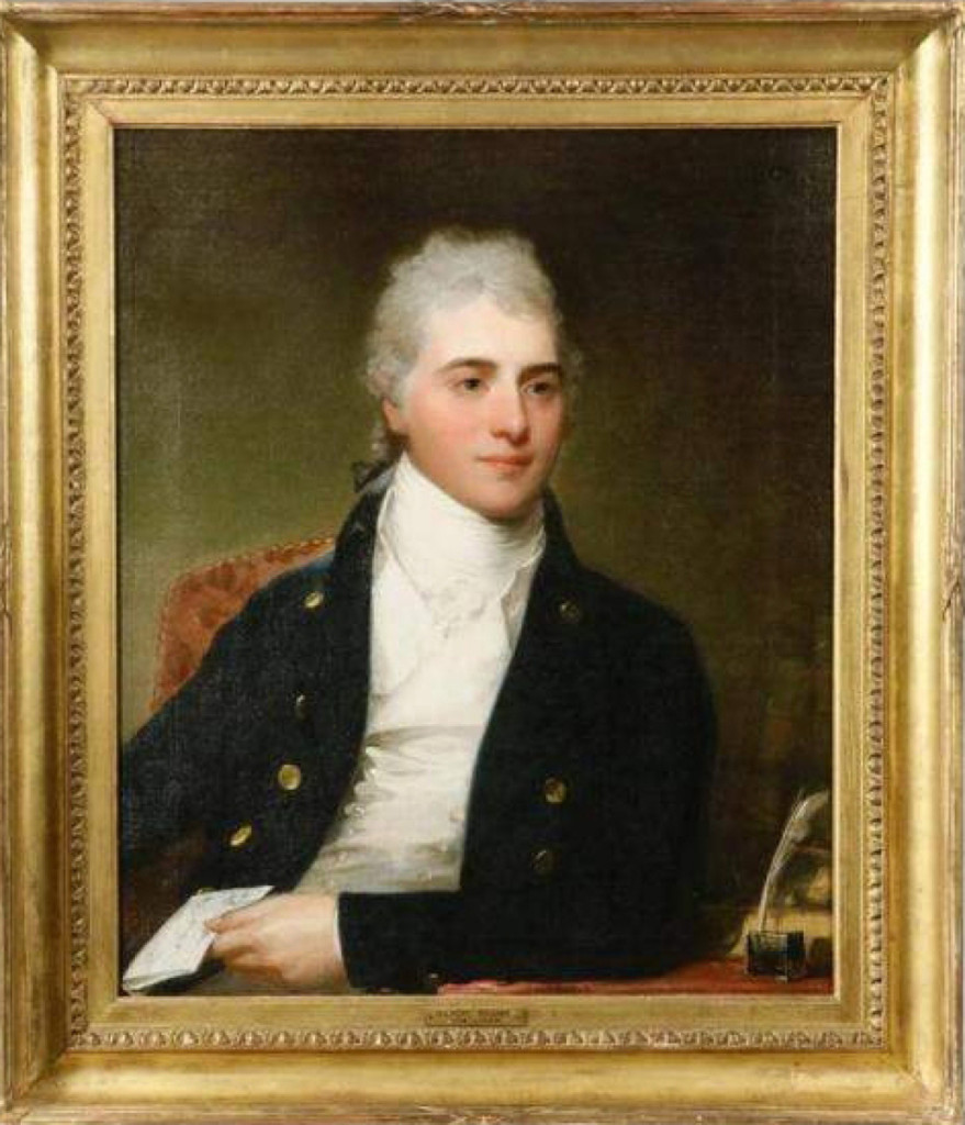 The top lot of the sale, this unsigned Gilbert Stuart portrait earned $76,050. The painting had belonged, at one time, to Robert A. Franks, Andrew Carnegie's long-time personal secretary.