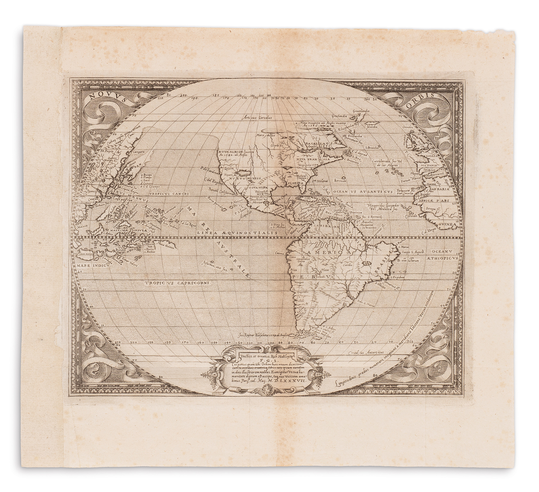 First Use Of Virginia On Map Sees At Swann Galleries Auction - Virginia on map