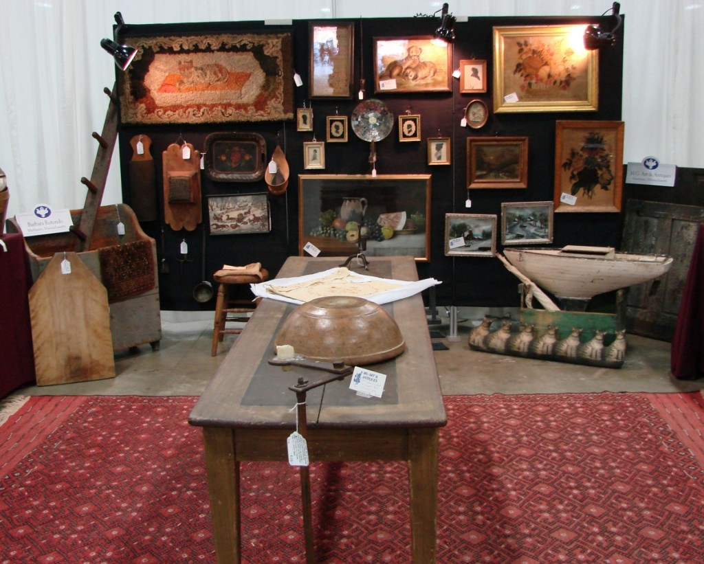 MG Art and Antiques, Merrimac, Mass., shared a booth with Barbara Rotondo from Metheun, Mass.