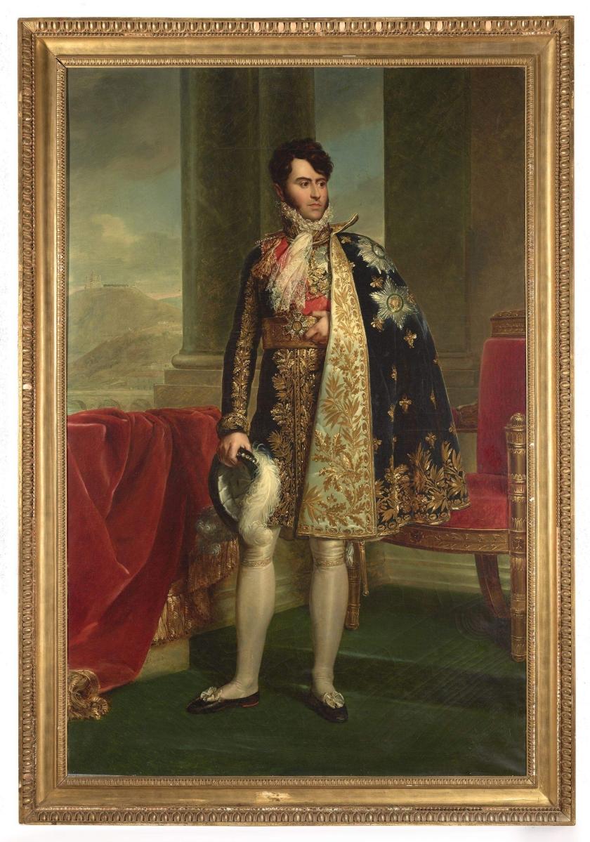 """François-Pascal-Simon Gérard (1770–1837), """"Prince Camillo Borghese,"""" circa 1810, oil on canvas, 83-  by 54¾ inches. The Frick Collection, New York"""