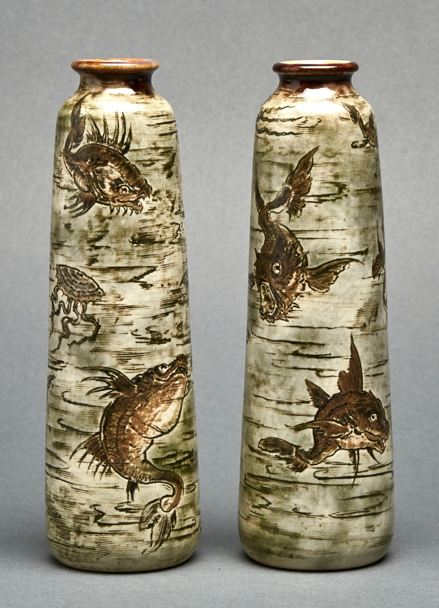 Fantastic martin brothers birds soar at waddingtons this pair of martin brothers stoneware vases 1903 sold for 5760 152000 reviewsmspy