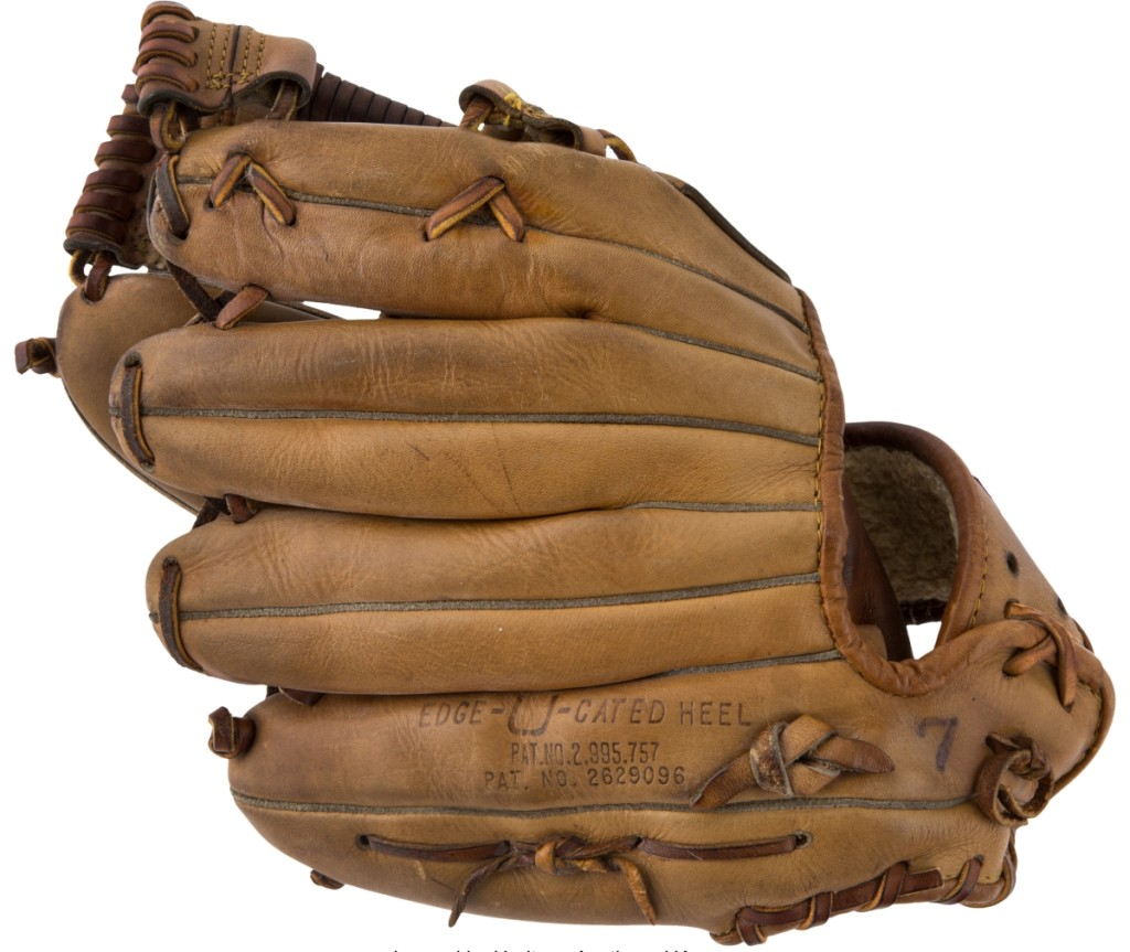 Mickey Mantle's game-used material also registered multiple six-figure results, with his 1965 game-used fielder's glove bringing $144,000.