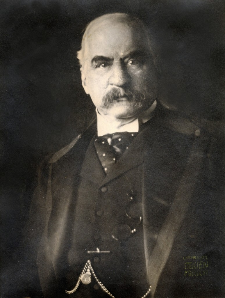 """J. Pierpont Morgan, Esq."" by Edward J. Steichen, 1903, printed 1904. Gum bichromate over platinum print. Private Collection, courtesy Laurence Miller Gallery."