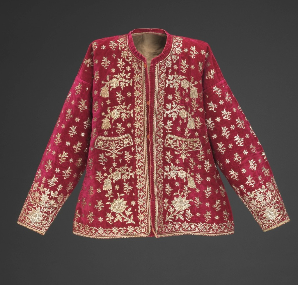 Bridal jacket, Isfahan, Iran, early Twentieth Century. Silk velvet and silver-tinsel embroidery. The Israel Museum, Jerusalem, B92.0433.