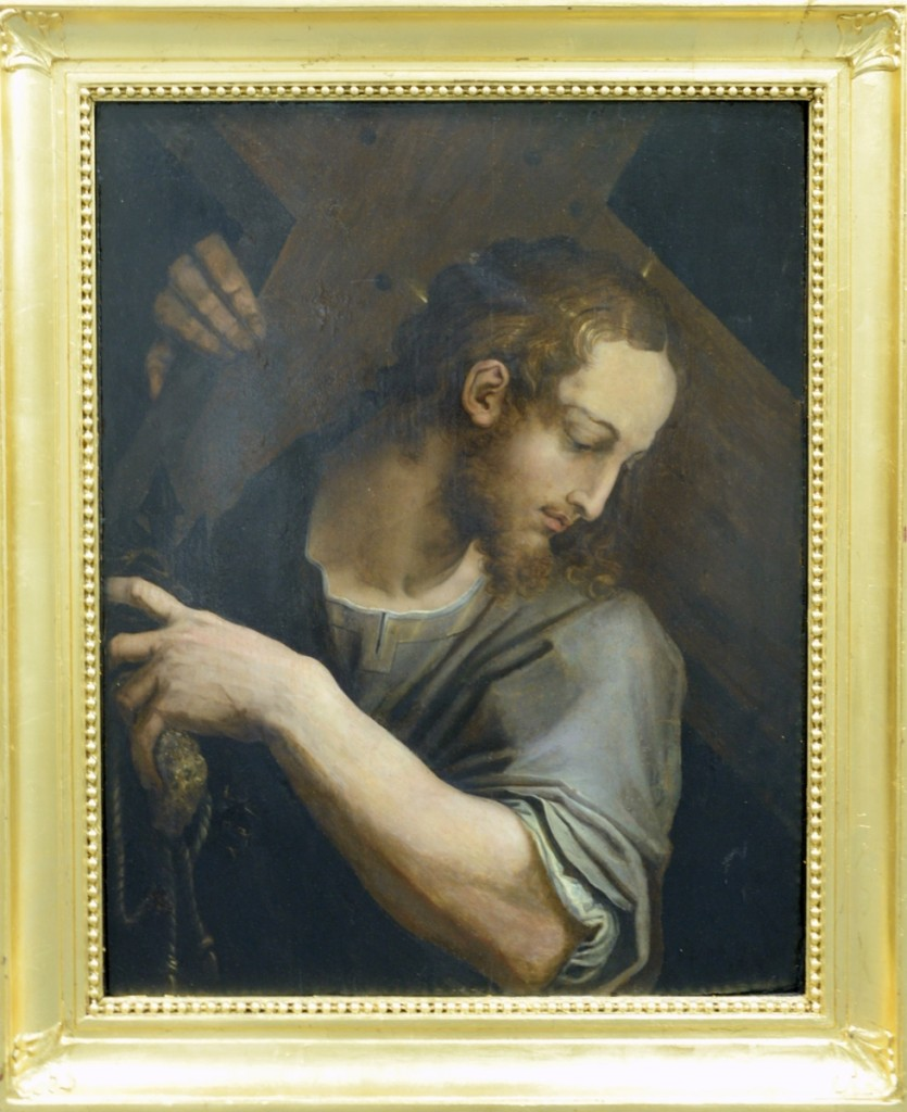 The biggest surprise of the sale was this painting of Christ carrying the cross; it sold for $174,000 against an estimate of $2/4,000 to an international phone bidder.
