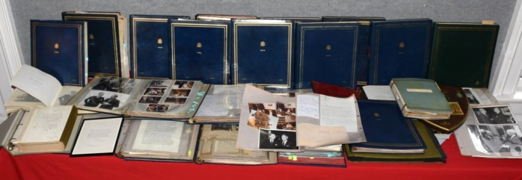 John P. Humes was ambassador to Austria during the Nixon/Ford years. A lot of 25 leather bound albums with hundreds of his documents, letters, notes and photographs, were sold in one lot. The price, $3,680, seemed quite low for such a historically important archive.