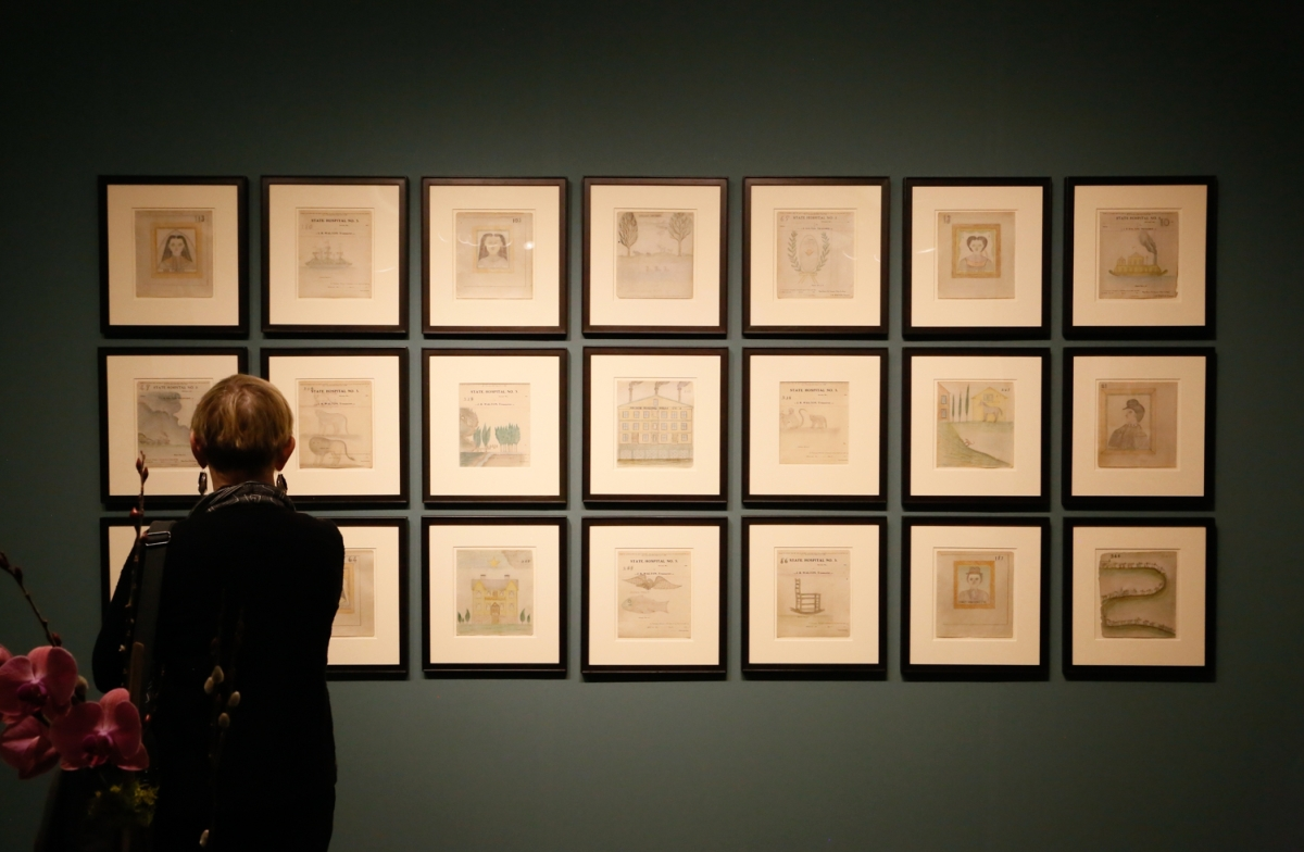 A selection of 21 works from Edward Deeds was on display at Hirschl & Adler, New York City. Deeds' work was discovered by a young boy in 1970, when by chance he found a book of drawings in a pile of garbage on a street corner. The boy held onto the work for 36 years, when he brought them to a bookseller who listed them for sale online in 2006, reaching the Outsider art community.