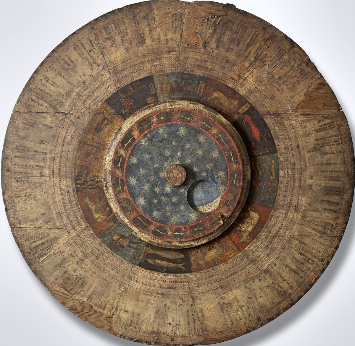 San Zeno Astrolabe, Italy, Verona, circa 1455, illuminated for the Abbey of San Zeno by an anonymous Lombard artist, private collection of Richard Cloward. Image courtesy of Map & Atlas Museum of La Jolla, Michael Stone, founder.