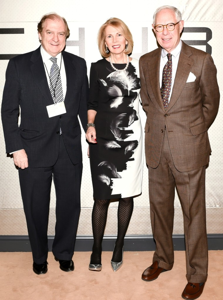 Kopelman, right, with Michael R. Lynch and Lucinda C. Ballard, co-chairs of the 2018 Winter Antiques Show.
