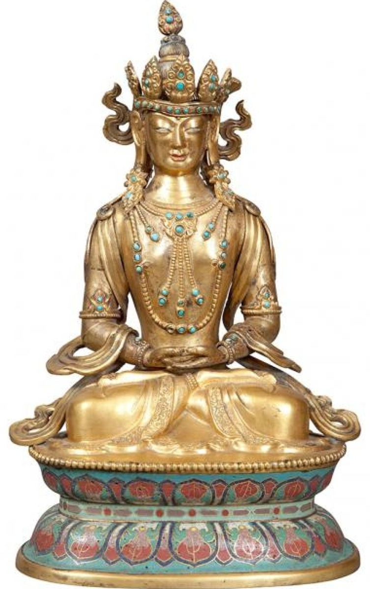 Chinese gilt-bronze figure of Seated Tara was the top lot at $187,500.