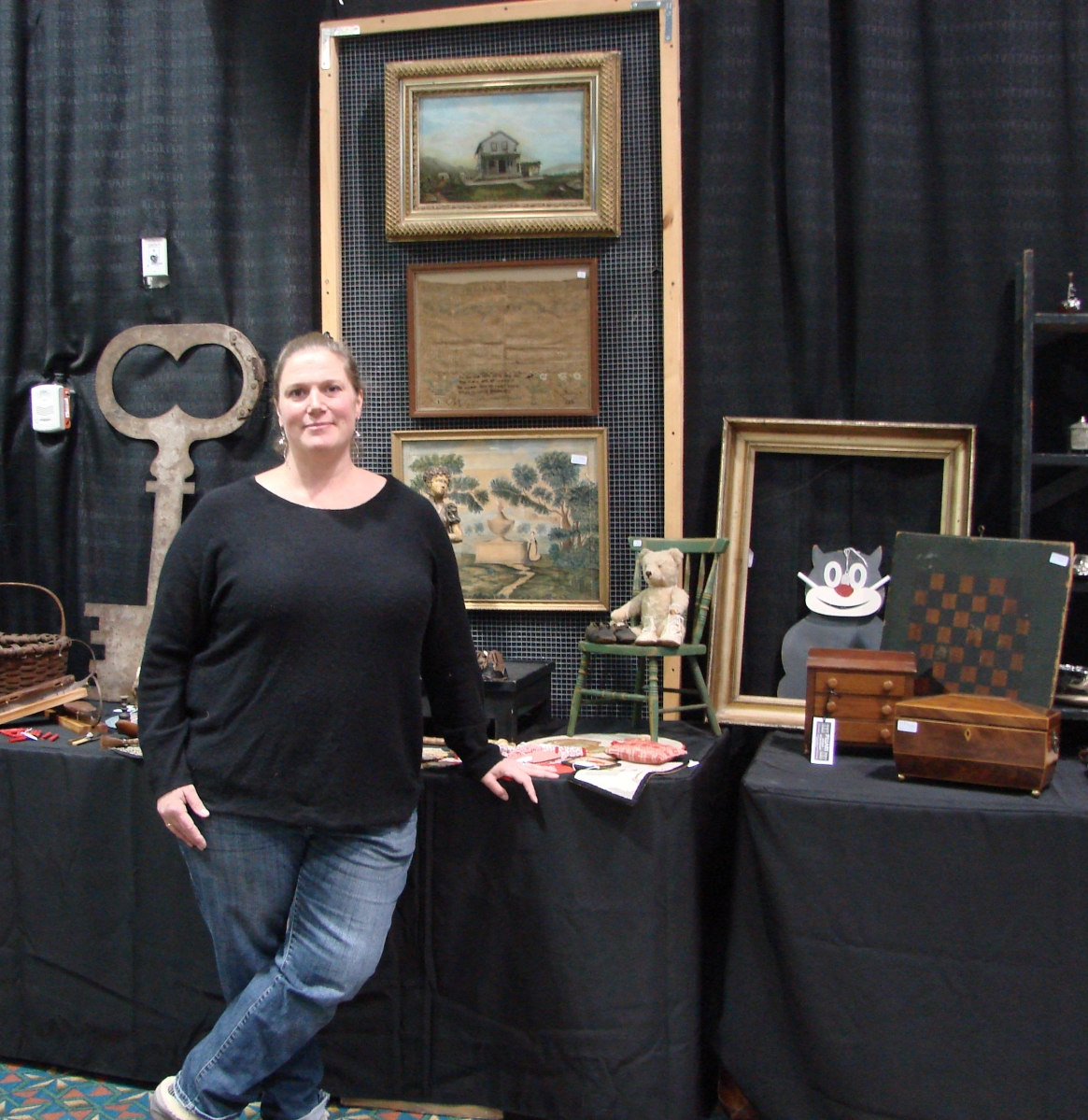 Rachel Gurley, along with her brother Josh, planned and managed this show, which is the first of three this year. They worked for several years with their mother, the late Nan Gurley, and run other shows throughout the year, including a well-established favorite at the Deerfield fairgrounds during Antiques Week in New Hampshire.