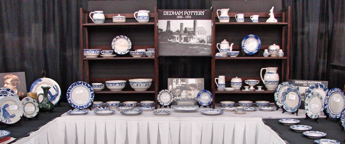 Jim Kaufman, Dedham, Mass., specializes in Dedham pottery and works by the Robertson family of potters. He is the volunteer curator of the Dedham Historical Society, and he had nothing but Dedham in his booth.