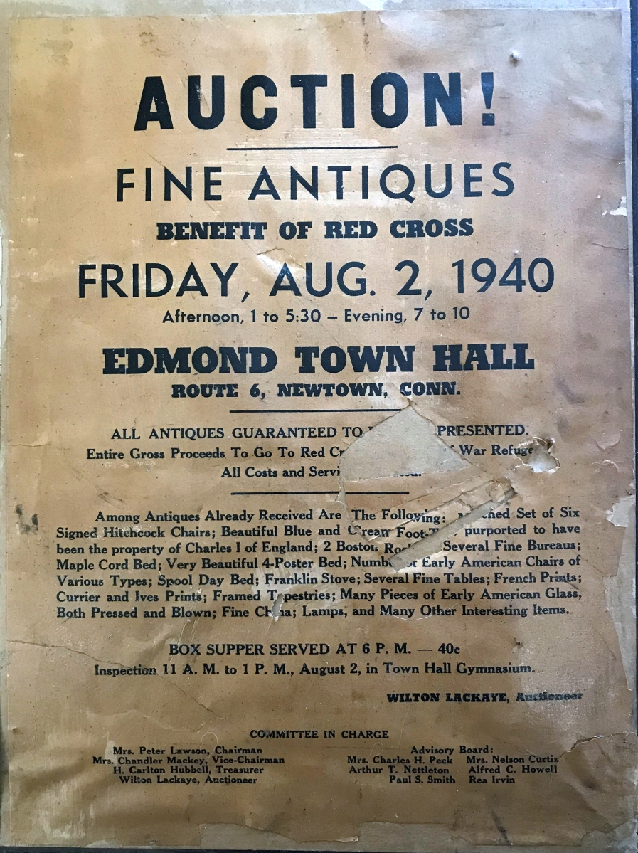 This advertising flyer, printed by The Bee Publishing Co., is pasted on the reserve of the original framed poster.