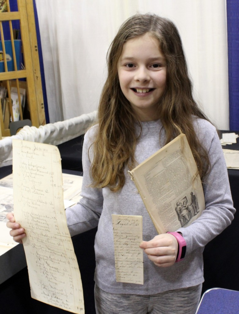 "Katherine Thorner stated that she was 10¾ years old, qualifying her to help herself to three historical documents from Eric Caren's booth where the Woodstock, N.Y., dealer was offering items ""free to everyone under 21."""