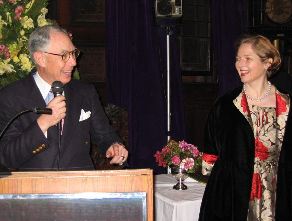 The Winter Antiques Show chairman worked closely over the years with the fair's executive director, Catherine Sweeney Singer.