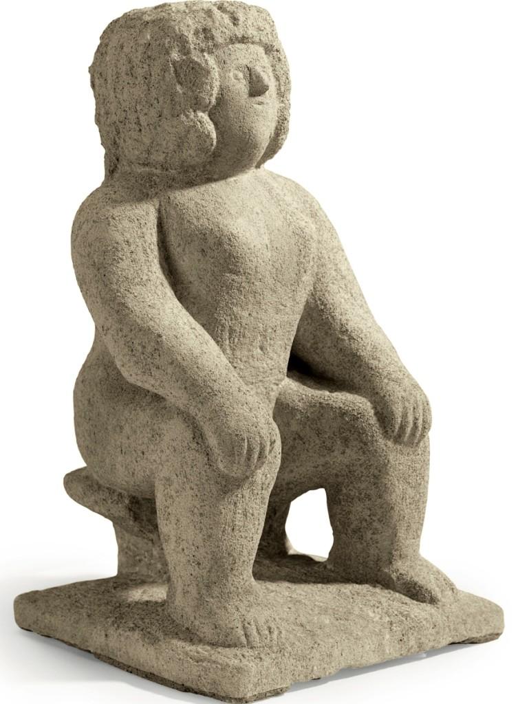 """""""Nurse Wootton,"""" by William Edmondson (1874–1951), limestone ($50/150,000). —Christie's"""