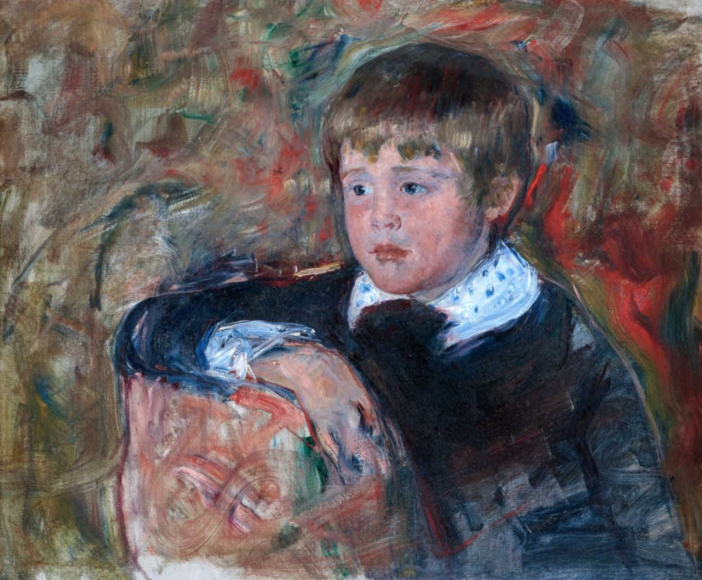 """Portrait of a Child (Master Robert K. Cassatt),"" by Mary Cassatt, circa 1882–83, oil on canvas, 19¾ by 24¼ inches, the Elizabeth A. Keck Collection, photo courtesy Sotheby's."