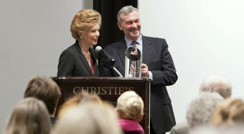Award recipient Audrey B. Heckler with foundation president Peter Wunsch. Courtesy of Christie's.