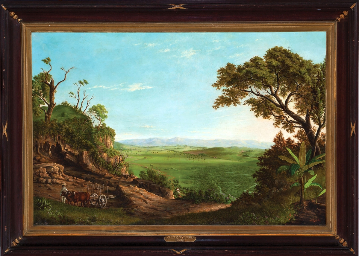 This lush Nineteenth Century view of the Yumuri Valley in Cuba by Alfred Gault, born in New Orleans in 1840, was the top lot of the sale at $33,500.