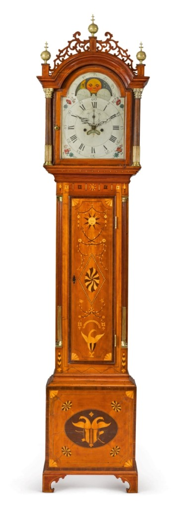 This clock brought the top price for American furniture and was purchased for $471,00 by the MFA, Boston.