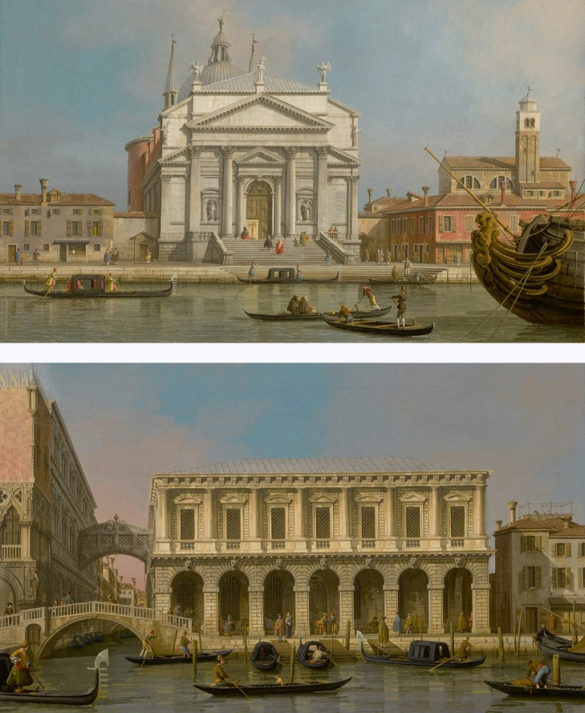 "The top selling lot across all sessions was ""Venice: The Churches of the Redentore and San Giacomo: Venice, the prisons and the Bridge of Sighs, looking Northwest from the balcony,"" by Canaletto, oil on canvas. Sold for $4,179,500 ($  million). Master paintings evening sale, February 1."