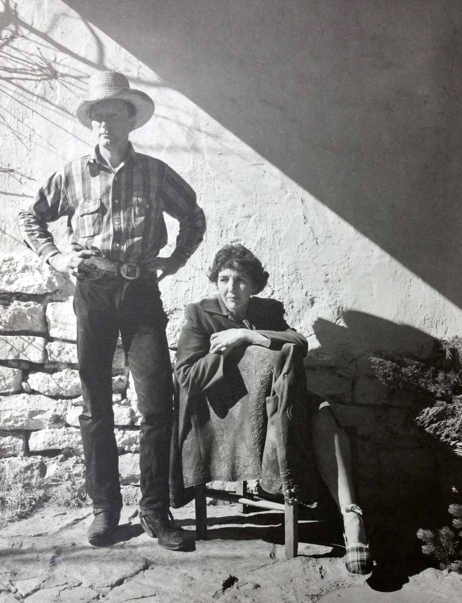 """Peter Hurd and Henriette Wyeth"" by Walton Wray Wiggins, 1944. Silver print on paper. Roswell Museum and Art Center."