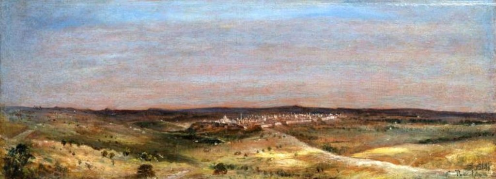 "Finishing at $12,000, ""View of Jerusalem from Mount Scopus"" by Eugene Boudin, was one of the higher priced items in the sale, going to an internet bidder."