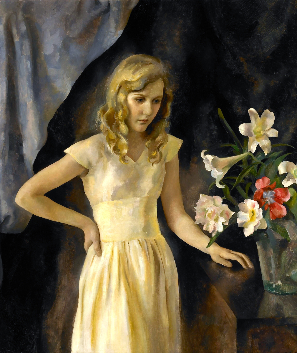 """Beulah Emmet"" by Henriette Wyeth, 1933. Oil on canvas, 46 by 40 inches. Courtesy Gerald Peters Gallery, Santa Fe, N.M."