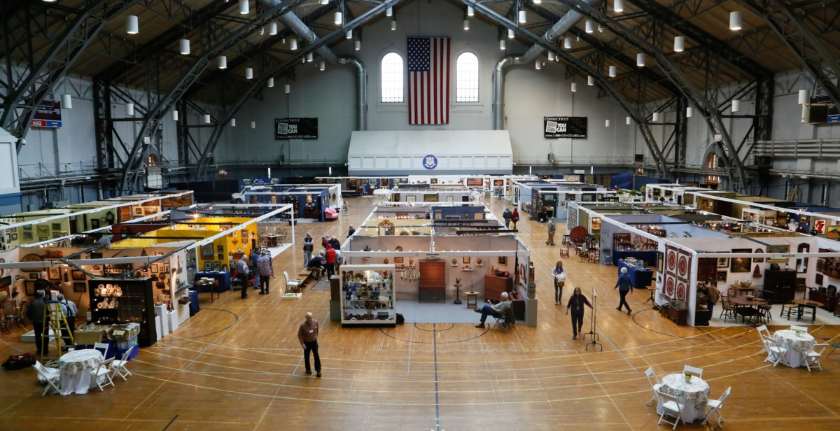 The light from the Hartford Armory's high ceiling has a way of making antiques look good. Just over 50 dealers set up shop here for the 45th edition of the Connecticut Spring Antiques Show.