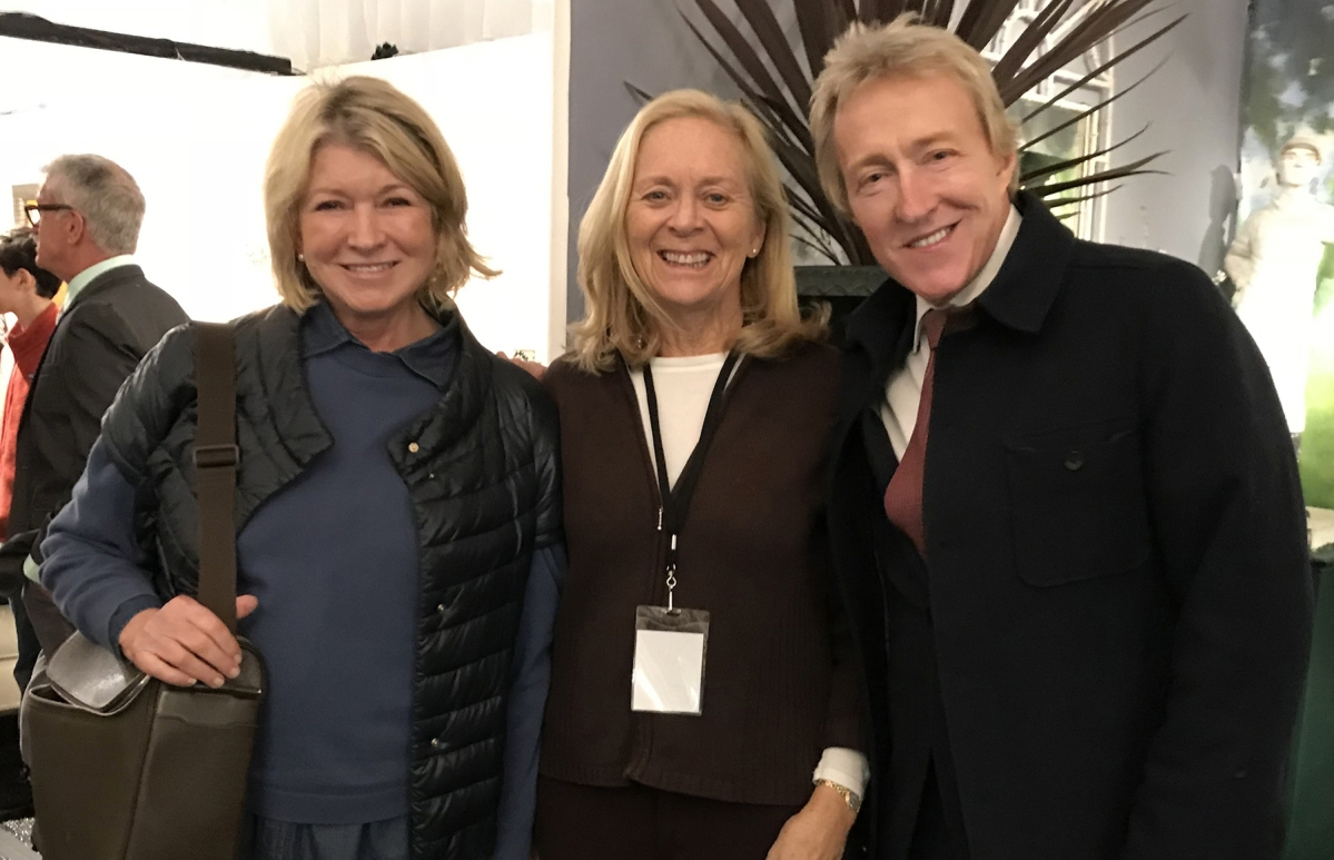 Martha Stewart, Barbara Israel and Leigh Keno opening day at Antiques on the Hudson, at Lyndhurst