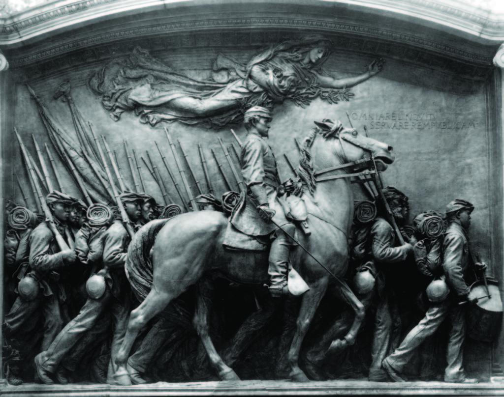 """Shaw Memorial"" by Augustus Saint-Gaudens, photograph courtesy Saint-Gaudens National Historic Site, Cornish, N.H."