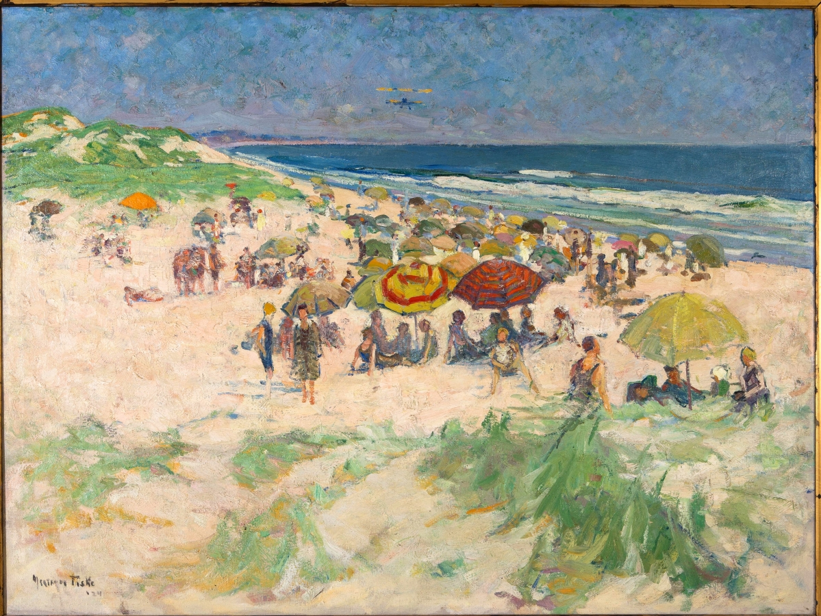 """Ogunquit Beach,"" 1924. Oil on canvas. Private collection.   						          —Jay Willis photo"