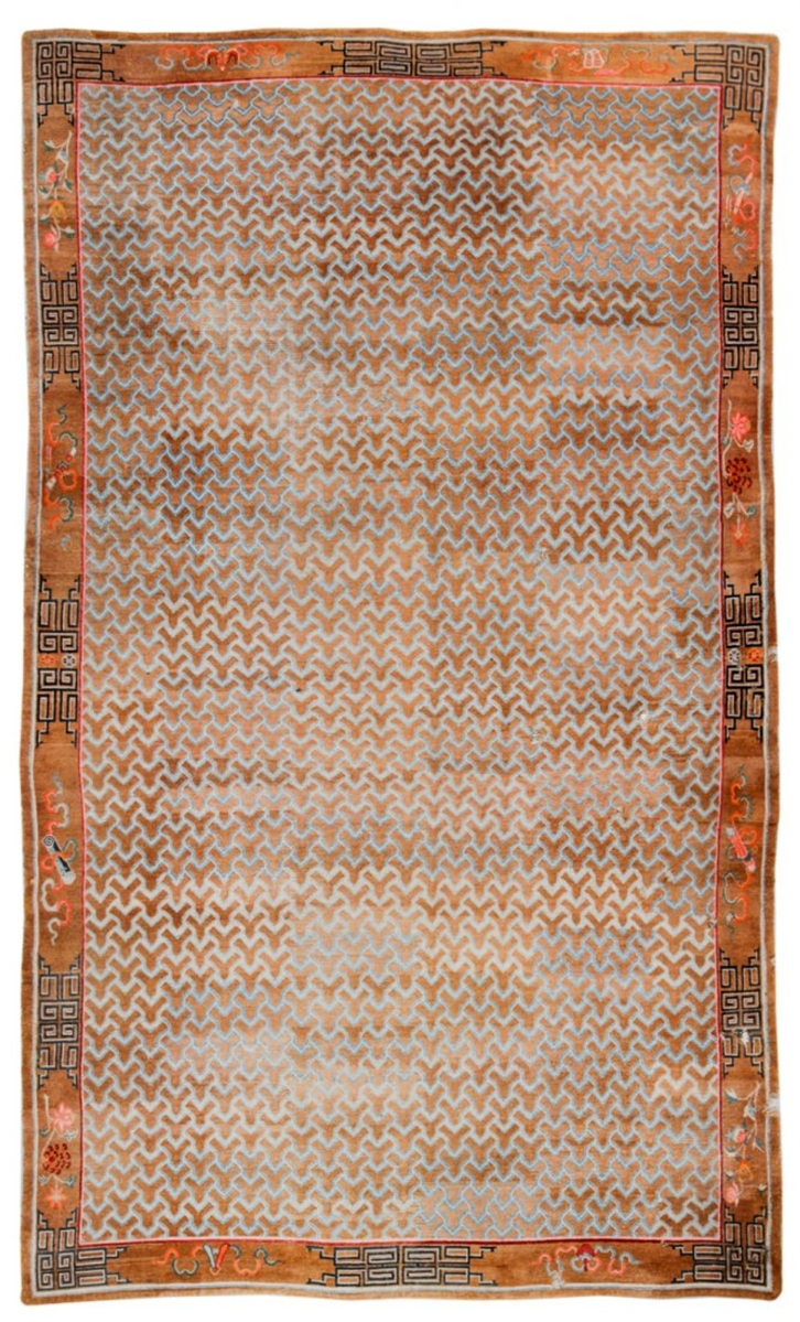 At $11,250, a monumental Tibetan monastery rug from a Philadelphia estate collection was the highest result among the carpets.
