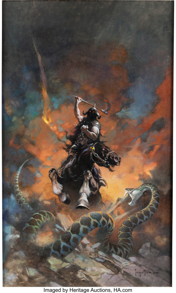 SOLD $1,792,500 --WORLD AUCTION RECORD  Frank Frazetta Death Dealer 6 Pa...