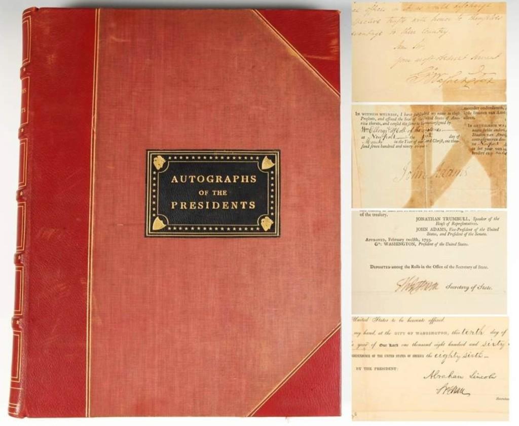AB Sloans & Kenyon Presidents Autographs