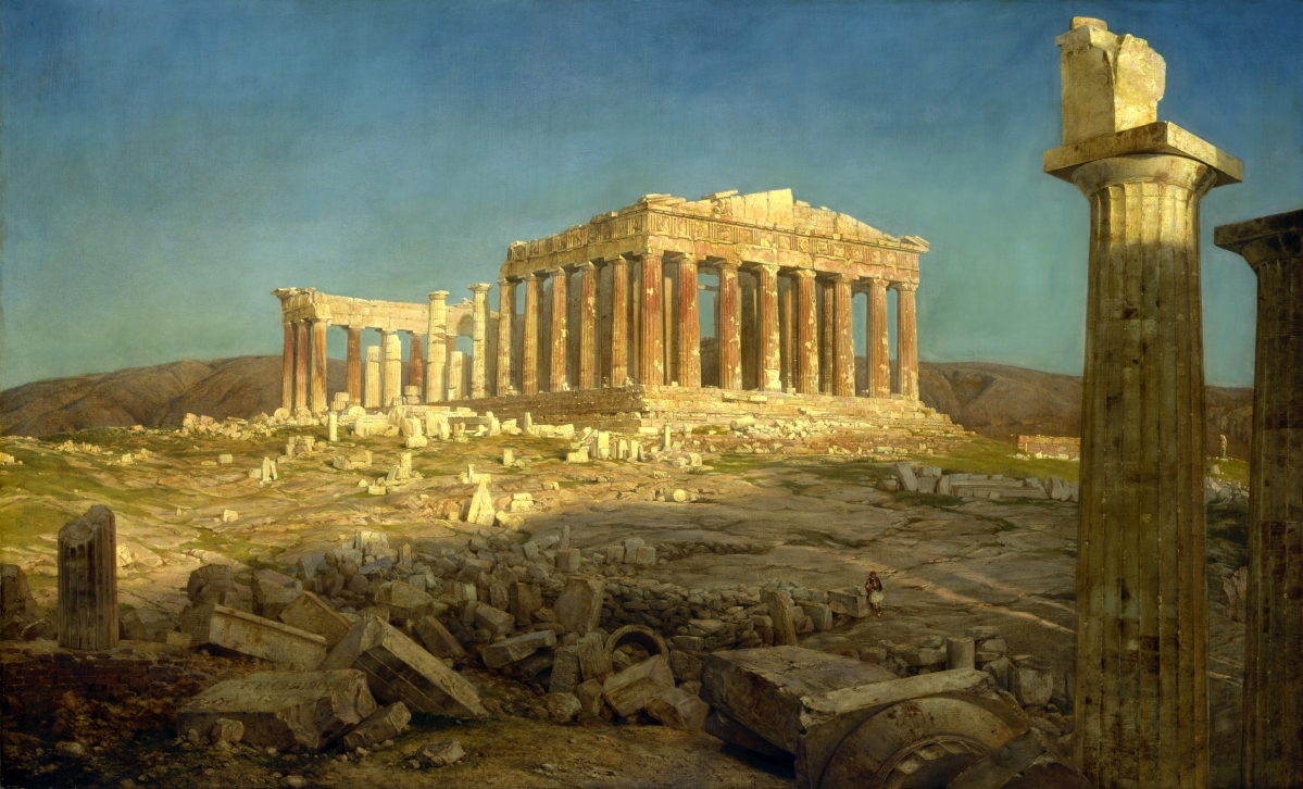 """The Parthenon,"" 1871. Oil on canvas. The Metropolitan Museum of Art, bequest of Maria DeWitt Jesup, from the collection of her husband, Morris K. Jesup."