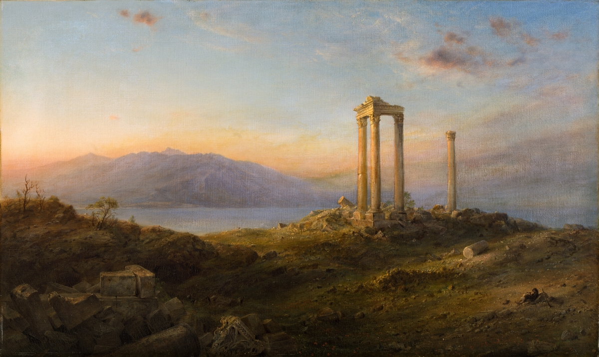 """Ruins at Baalbek,"" 1868. Oil on canvas. Private collection."