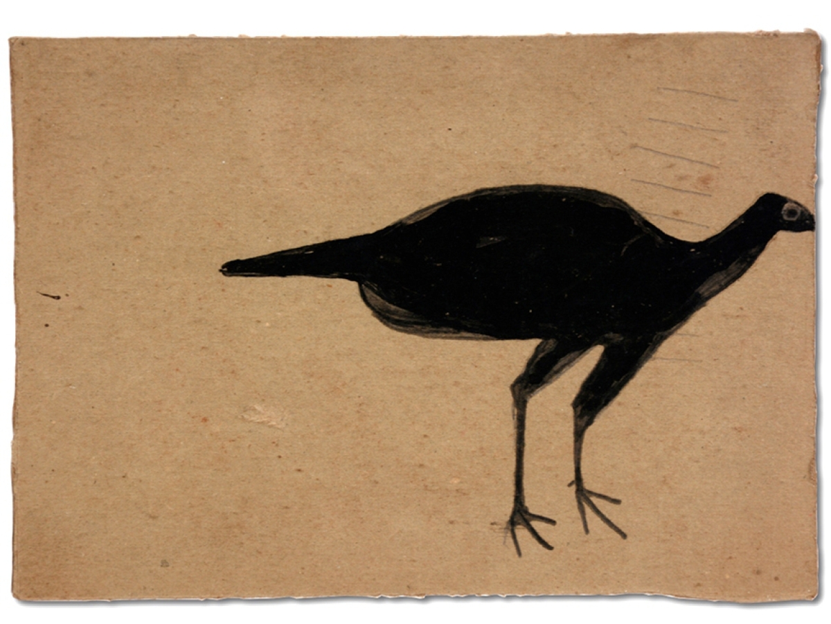 "This early 1940s Bill Traylor ""Black Turkey"" sold in-house for $43,200, the high bid of the two-day sale."